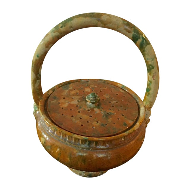 French Pottery Potpourri Basket - Image 1 of 5