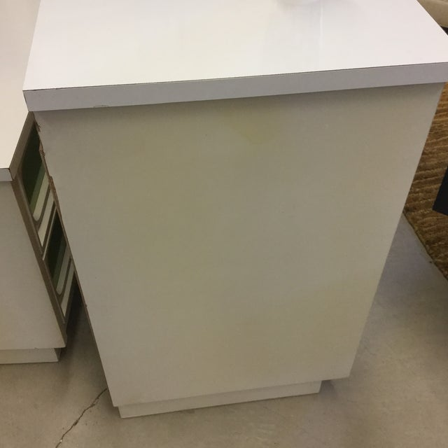 Mid Century Lime Green & White 9 Drawer Dresser For Sale - Image 12 of 13