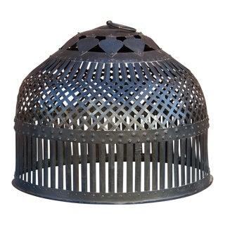 Exotic Pierced Iron Large Lantern For Sale