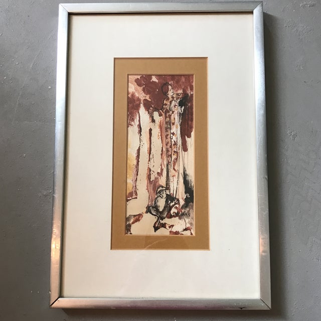 Vintage Watercolor of a Lady Signed Schulman For Sale In Houston - Image 6 of 6