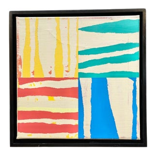 Contemporary Modernist Inspired Acrylic Painting, Framed For Sale