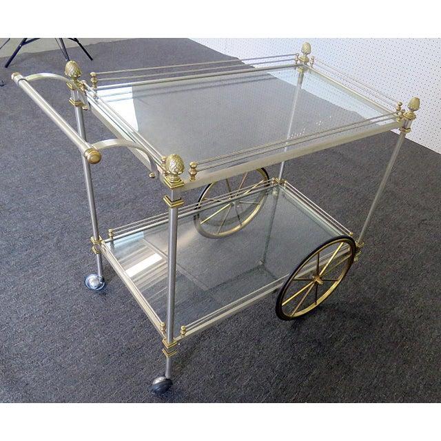 Regency Mid 20th Century Regency Style Bar Cart For Sale - Image 3 of 10