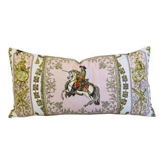 "Hermes Ludovicus Magnus Silk Feather/Down Pillow 34"" x 17"""
