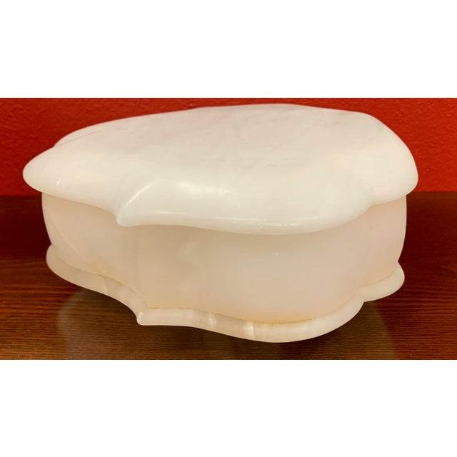 Mid 20th Century Alabaster Hinged Box For Sale In Tampa - Image 6 of 9