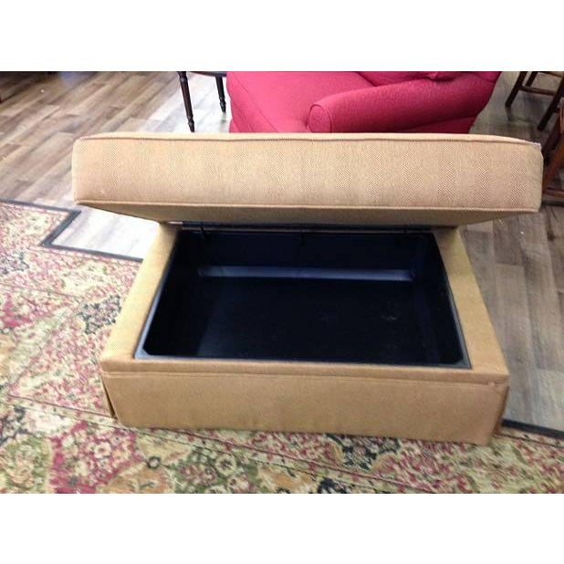 Ethan Allen Storage Upholstered Ottoman - Image 3 of 3