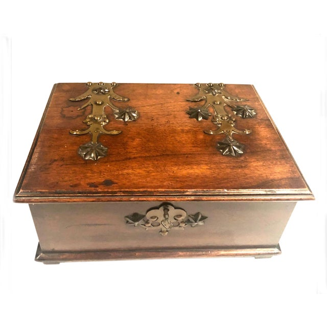 Antique Turn of the Century German Walnut Box For Sale - Image 10 of 10