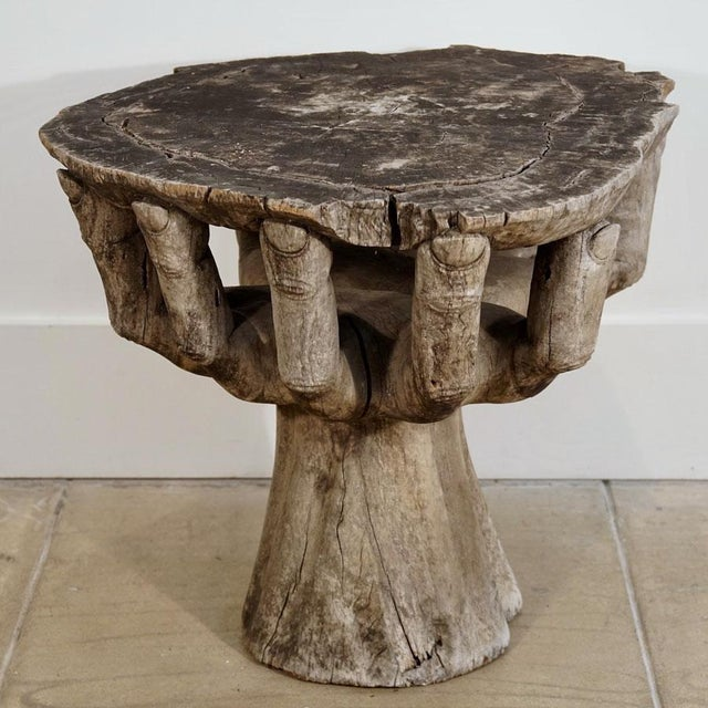 Brutalist 1960's Hand Cocktail Table For Sale - Image 3 of 6