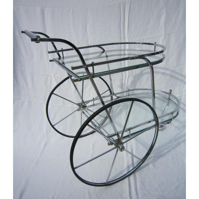 Italian Chrome Bar Cart - Image 6 of 6