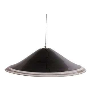 Huge Melania Pendant Lamp by Renato Toso for Leucos in Murano Black and White