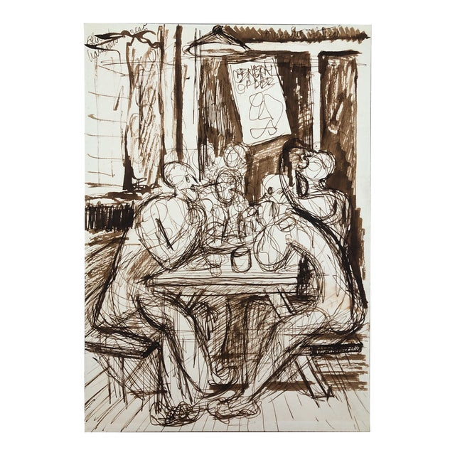 Cafe Conversation by William Palmer, C. 1944 For Sale