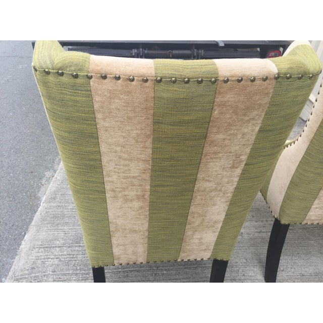 Green Lounge or Dining Chairs a Pair For Sale - Image 8 of 10