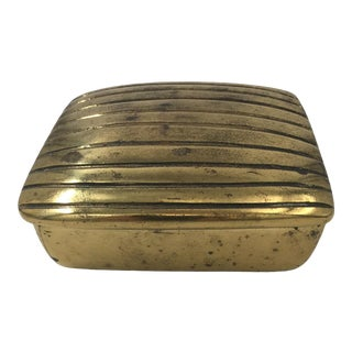 Ben Seibel Ribbed Brass Box For Sale