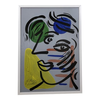 """""""Picasso Face"""" Painting by Peter Keil For Sale"""