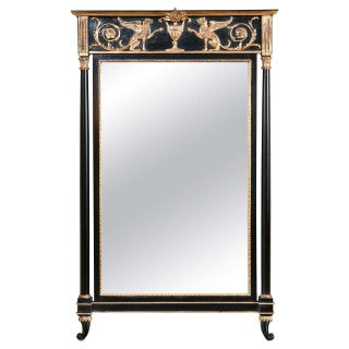 Russian Neoclassical Style Pier Mirror For Sale