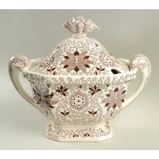 Mason's Bow Bells Brown Tureen & Lid For Sale - Image 11 of 11