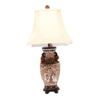 Pasargad Ny Vintage Hand Painted Porcelain Table Lamp For Sale