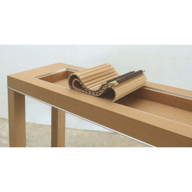 Mobilidea Console With Rolling Tambour Blind on Top, Italy For Sale - Image 9 of 11