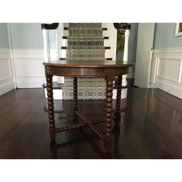 Round Wood Bobbin Table - Image 2 of 6