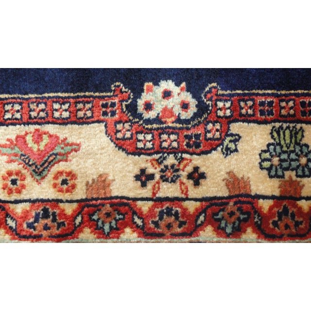 """Indian Sarouk Runner Rug - 9'10"""" x 2'10"""" For Sale - Image 5 of 5"""
