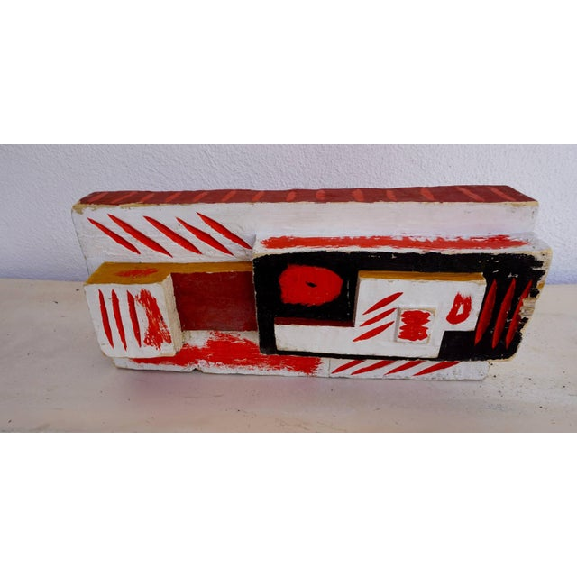 1950s Abstract Painted Wood Sculpture by John Haley For Sale - Image 5 of 8