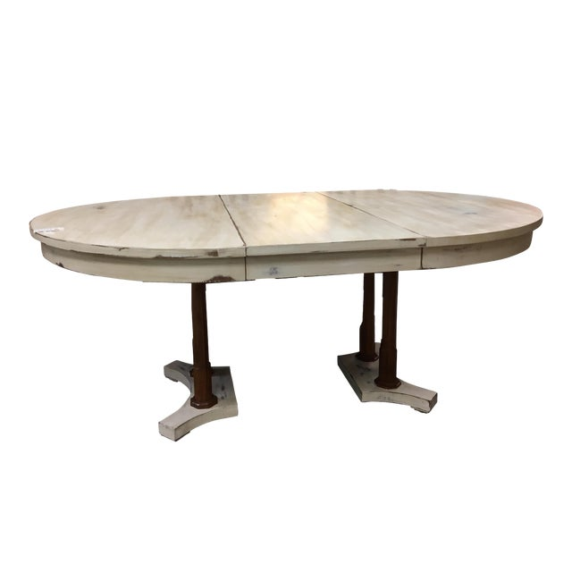 Expandable Round Farm Table For Sale