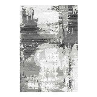 Abstract Grey Area Rug - 6'8''x 9'8''
