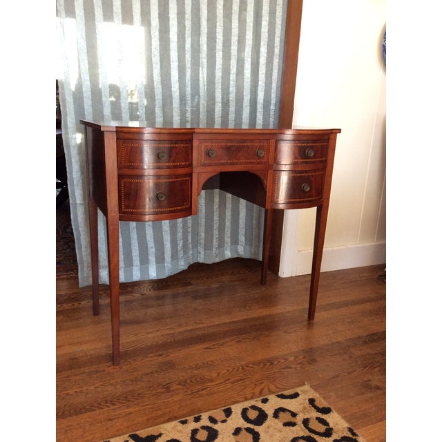 Brown Hepplewhite Mahogany Inlay Desk For Sale - Image 8 of 13