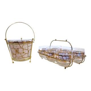 1960's Roly Poly Set w/ Ice Bucket