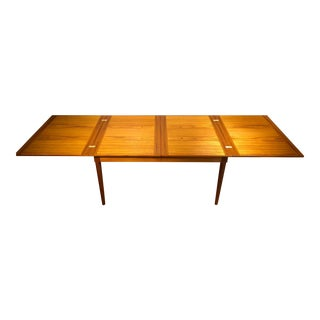 Danish Modern Teak Butterfly Leaf Expanding Dining Table For Sale