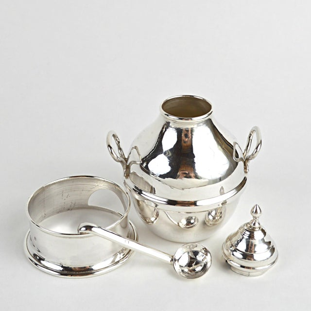 Egyptian Sterling Silver Warming Pot - Image 4 of 10
