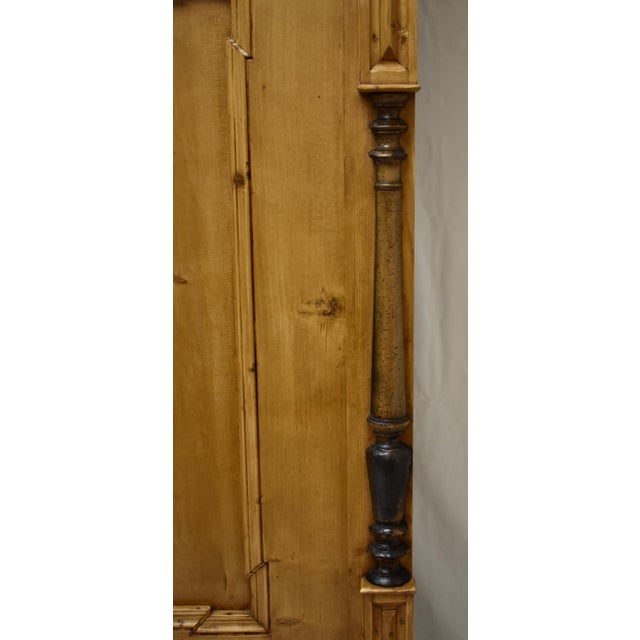 Brown Pine Two Door Armoire For Sale - Image 8 of 13