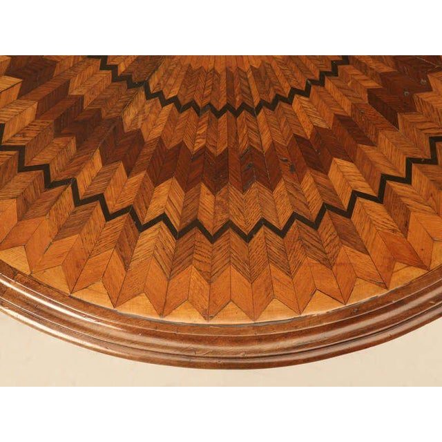 19th Century Hand Inlaid Pedestal Table For Sale - Image 4 of 10