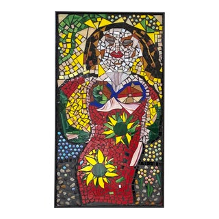 1990s Mosiac Tile Art of a Woman, Picasso Inspired For Sale