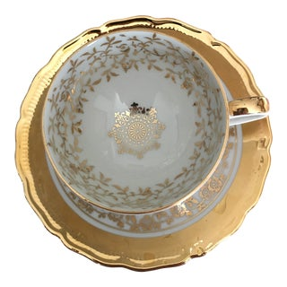 Bavaria Espresso Gold and Porcelain Cup & Saucer For Sale