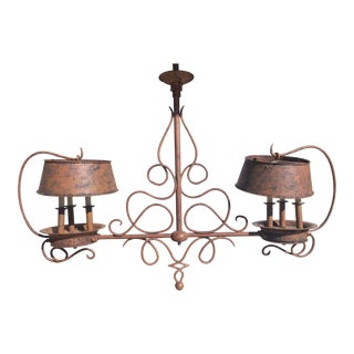 Chapman Rustic Coach-Style Chandelier For Sale