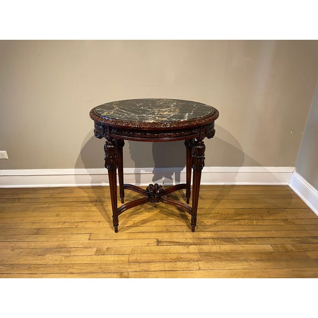 Brown 20th Century French Provincial Heavily Cured Side Table For Sale - Image 8 of 8