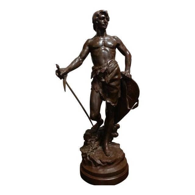Antoine Bofill -Warrior W/Sword & Shield-19th C. French Bronze Sculpture For Sale