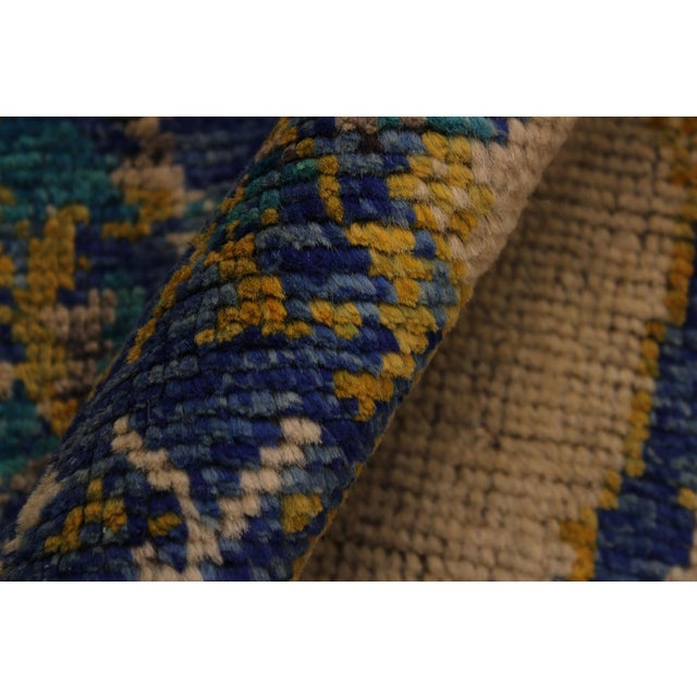 Balouchi Albertha Blue Wool Rug - 4′10″ × 6′6″ For Sale - Image 4 of 8
