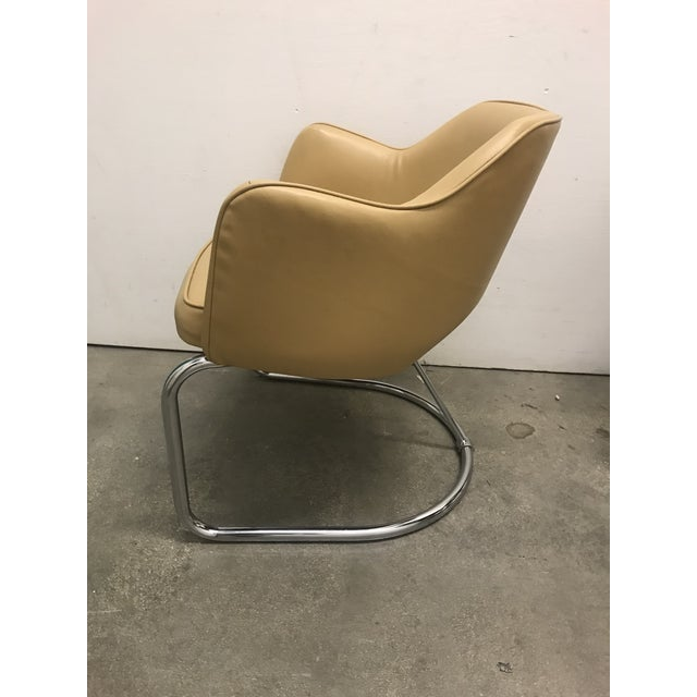 Tan Eero Saarinen Style Chairs - a Pair For Sale - Image 8 of 11
