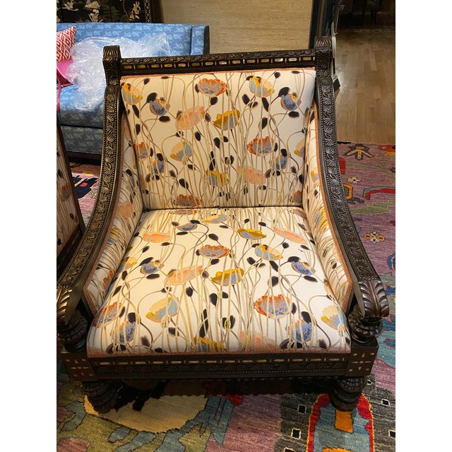 19th Century Mother of Pearl Inlay Chairs - a Pair For Sale - Image 4 of 12