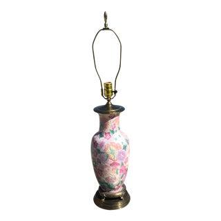 Pink Floral Ginger Jar Table Lamp