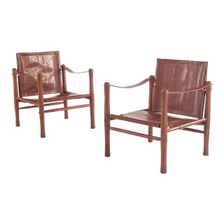 Elias Svedberg Safari Lounge Chairs - a Pair For Sale