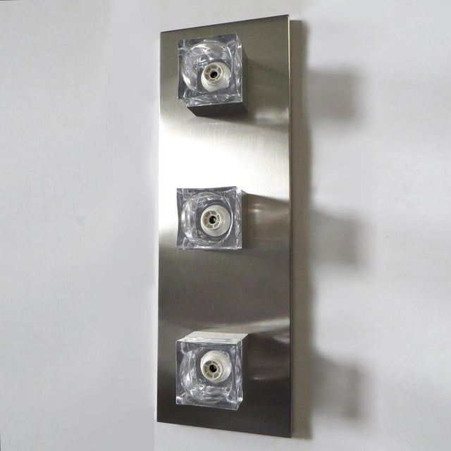 Gaetano Sciolari Sciolari Nickel Sconces or Flush Mounts (8 Available) For Sale - Image 4 of 8