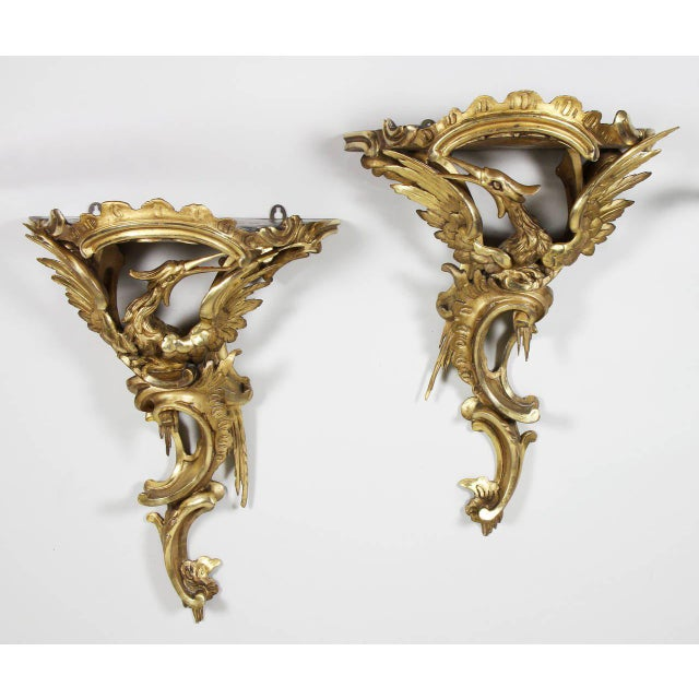 Pair of George III Giltwood Wall Brackets For Sale - Image 9 of 9