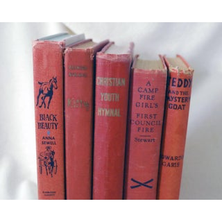 Vintage Red Children's Book Collection - Set of 5 Preview