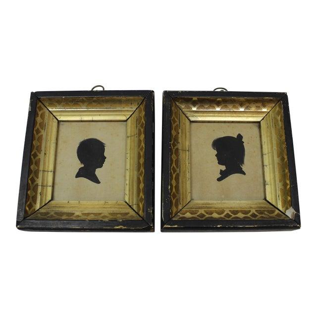 Antique Silhouette Miniatures - a Pair For Sale