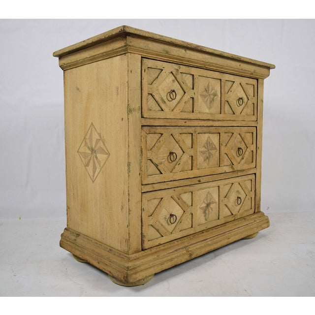 Baroque 1970s Baroque Style Bleached Wood Chest of Drawers For Sale - Image 3 of 10