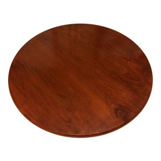 """Custom Mahogany Stained Lazy Susan 30"""" For Sale"""