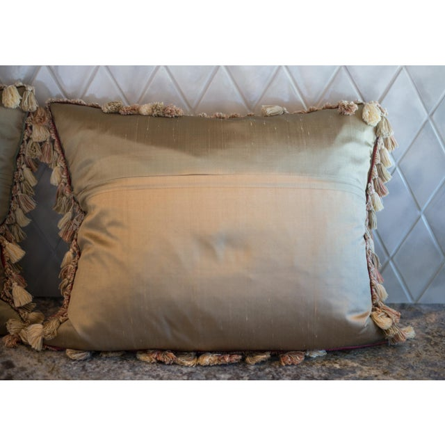 Vintage French Petti-Pointe Pillows - A Pair - Image 5 of 5