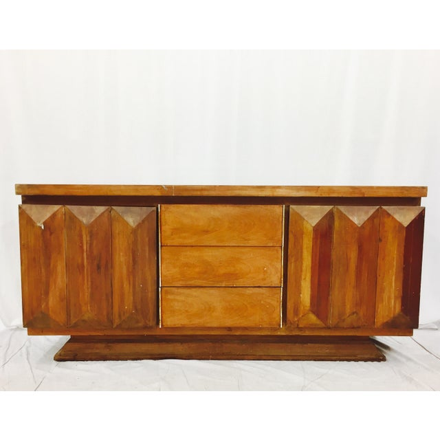 Boho Chic Mid-Century Modern Brutalist Kagan Style Dresser For Sale - Image 3 of 11